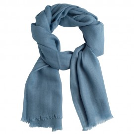 Dove blue pashmina stole in diamond weave