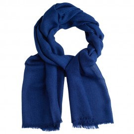 Dark blue pashmina stole in diamond weave