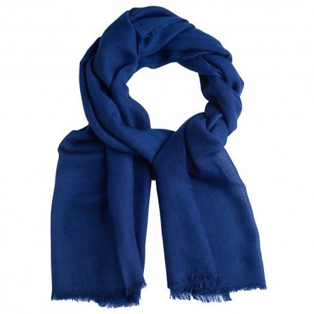 Dark blue pashmina stole in diamond weave