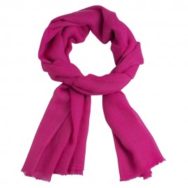 Fuchsia coloured pashmina stole
