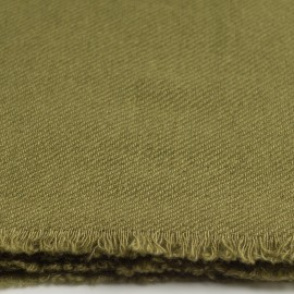 Olive green cashmere scarf