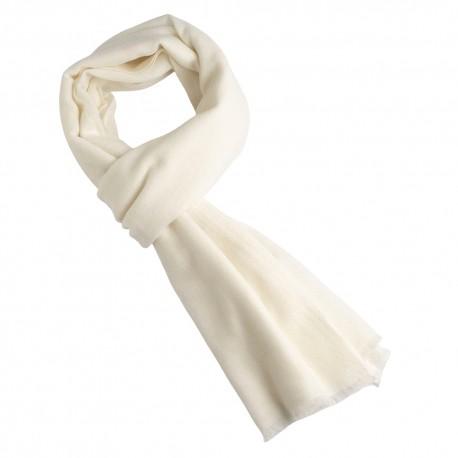 White scarf in pure cashmere