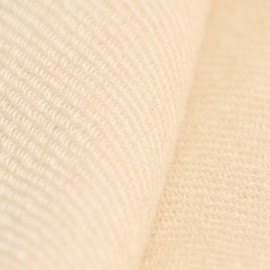 Beige cashmere scarf in twill weave