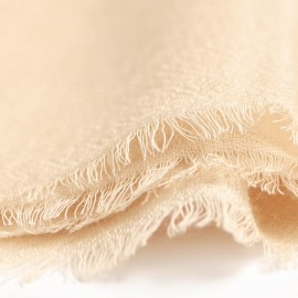 Beige pashmina stole in diamond weave
