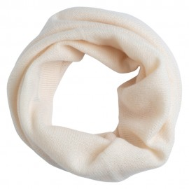 Off-white cashmere neckwarmer