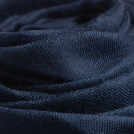 Navy giant shawl in cashmere 200 x 140 cm
