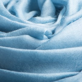 Dove blue giant shawl in cashmere 200 x 140 cm