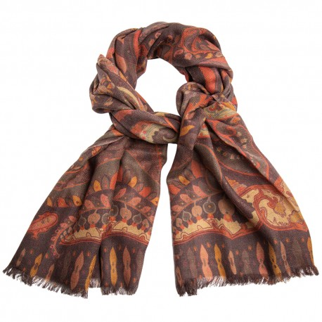 Paisley scarf in earth tones