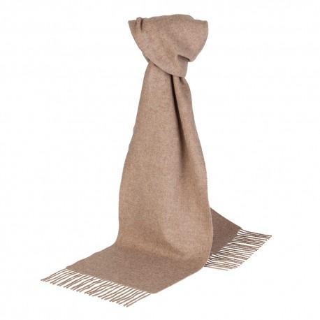 Beige lambswool scarf