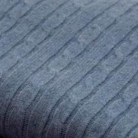 Dove blue blanket in pure cashmere
