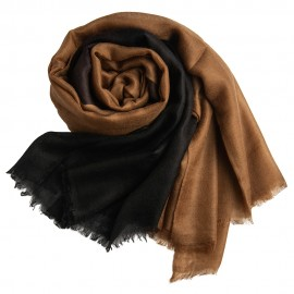 Dip-dye shawl in black/brown