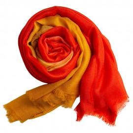 Dip-dye shawl in golden/orange