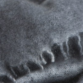 Grey square cashmere scarf