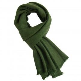 Army green yak scarf