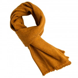 Dark golden yak scarf