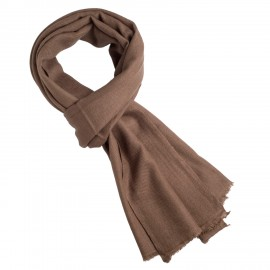 Taupe grey cashmere scarf