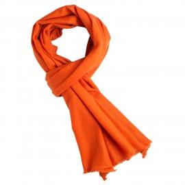 Rust orange cashmere scarf