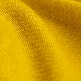 Curry yellow cashmere scarf