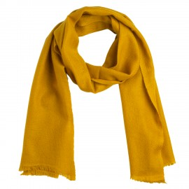 Small cashmere scarf in curry yellow