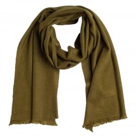 Small cashmere scarf in dark olive