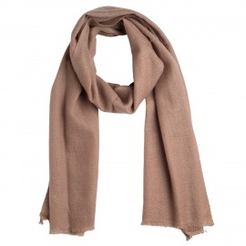 Small grey brown cashmere scarf