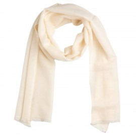Small white cashmere scarf