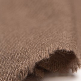 Small taupe cashmere scarf