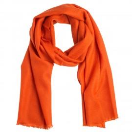 Small rust orange cashmere scarf