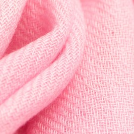 Small light pink cashmere scarf