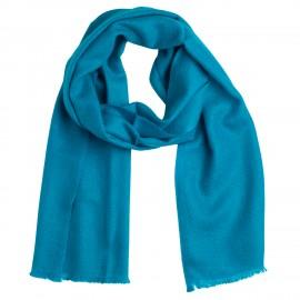 Small petrol blue cashmere scarf