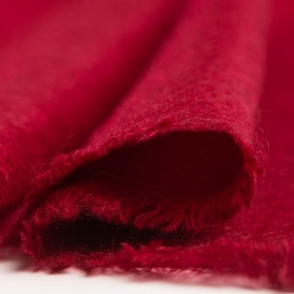 Small burgundy cashmere scarf