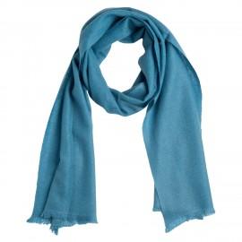Small dove blue cashmere scarf