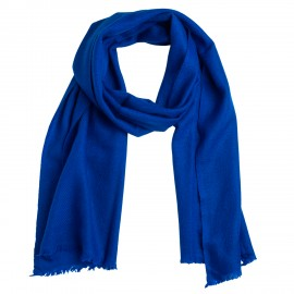 Small blue cashmere scarf