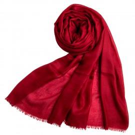 Burgundy giant shawl in cashmere 200 x 140 cm