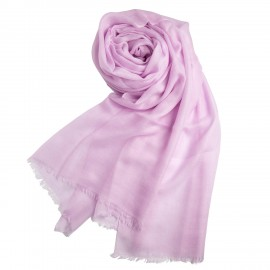 Lavender giant shawl in cashmere 200 x 140 cm