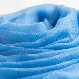 Light blue giant shawl in cashmere 200 x 140 cm