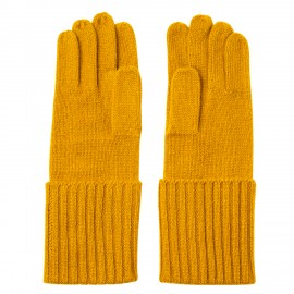 Curry coloured cashmere gloves
