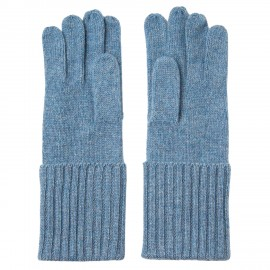 Dove blue knitted cashmere gloves