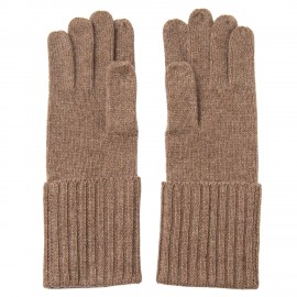 Taupe grey cashmere gloves