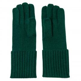 Bottle green cashmere gloves