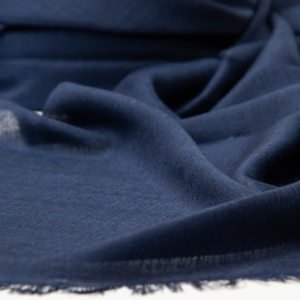 Extra large cashmere / silk shawl in navy blue