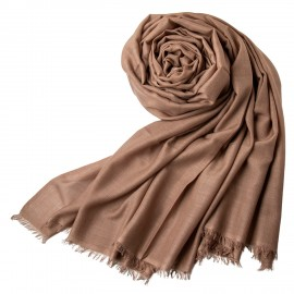 Extra large cashmere / silk shawl in taupe gray
