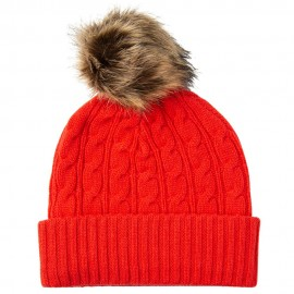 Orange-red pom hat