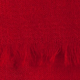 Dark red pashmina stole in basket weave