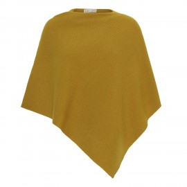 Curry coloured cashmere poncho