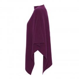 Plum coloured cashmere poncho