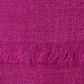 Violet pashmina stole in basket weave
