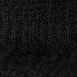 Black pashmina stole in basket weave