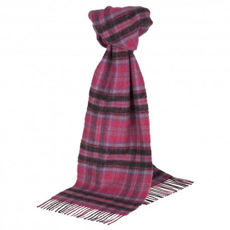 Violet tartan scarf