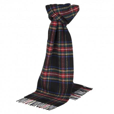 Block tartan scarf